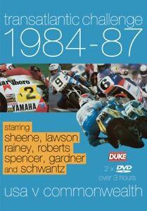 Transatlantic Challenge 1984 - 87 (New 2 DVD set) Barry Sheene Kenny Roberts etc