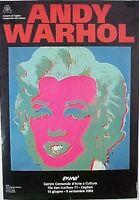 Manifesto Marilyn Nero Per Mostra Andy Warhol -  - ebay.it