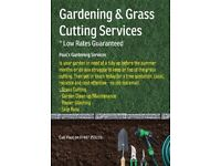 Garden Maintenance & Grass Cutting - Low Rates Guaranteed