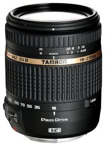 Tamron 18 - 270mm lens for Nikon.  With Vibration Reduction