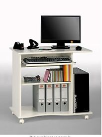 Computer Desk 80 x 75 x 50 cm White (Maja)
