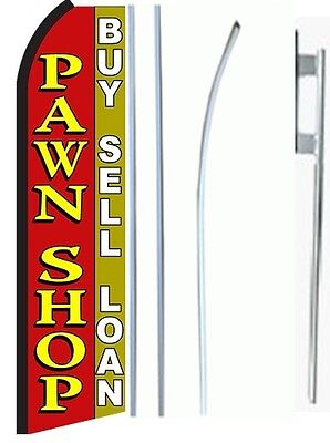 Pawn Shop King Size Swooper Flag Sign Wcomplete Set