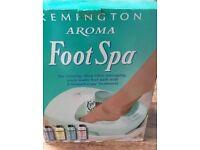 Boxed Remington Aroma Foot Spa Kit