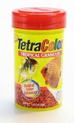 TETRA COLOR BITS TROPICAL GRANULES 1.06 OZ FISH FOOD COLORBITS. FREE SHIP TO USA