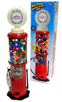 New in the box Gas pump GumBall Machine Bank Nice Gift 21 inch tall NEW cool
