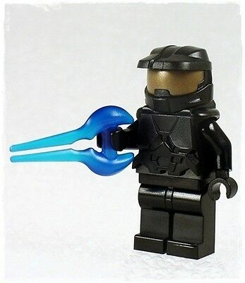 BLACK HALO CUSTOM SPARTAN SPACE MARINE w/ ENERGY SWORD MINIFIGURE w/ LEGO PARTS