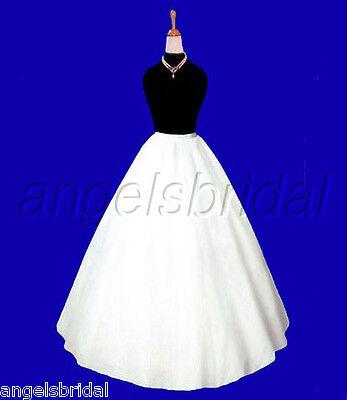 A-LINE SEMI-FULL HOOPLESS BRIDAL WEDDING GOWN PETTICOAT CRINOLINE SKIRT SLIP NEW - Full Wedding Gown Bridal Petticoat