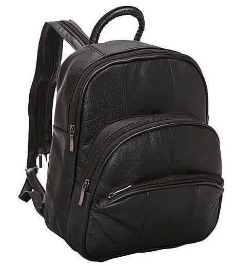 R R Collections Leather Triple Zip Around Large Backpack