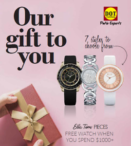 Our gift to you: get a FREE watch with $1000 purchase!