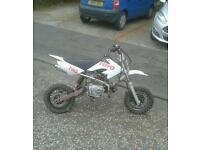 110cc pitbike. Swap for a car or 70cc+ bike ~ scooter
