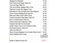 Books as shown on attached screenshot. Would suit a car booter for re-sale