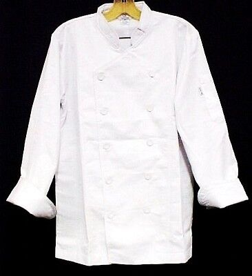 White Chef Coat CIA Culinary Institute America Double Breasted 3X New Style 9602