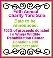 Donations needed for Charity Yard Sale