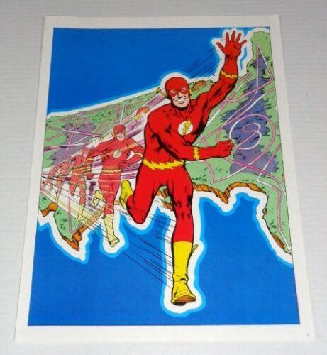 Rare vintage original 1978 The Flash DC Comics comic book art pin-up poster: JLA