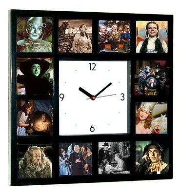 Wizard of Oz Square Clock with 12 pictures Dorothy Wicked Witch Scarecrow Glinda](Witch Scarecrow)