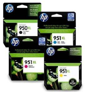hp 950xl 951xl combo 4 pack set genuine inks for officejet pro 8100e 8600e ebay. Black Bedroom Furniture Sets. Home Design Ideas