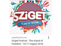 Sziget festival 7 days 230£ with camping
