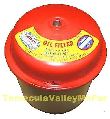 Sealed-Can Oil Filter w/MoPar Decal For 1941-1954 Ply - Dodge - DeSoto - Chrys