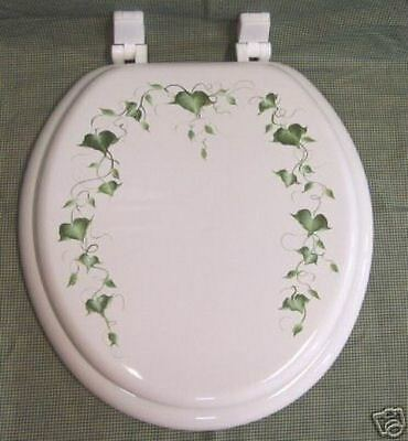 - HAND PAINTED TOILET SEAT/IVY/ BY MB/BACK BY DEMAND