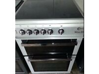 Beautiful Stylish Silver Halogen Cooker For Sale. Fan Assisted Double Oven.