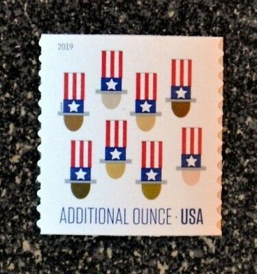2019USA 15c Additional Ounce Rate - Uncle Sam's Hat - Coil Single  Mint