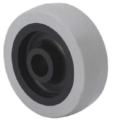 Rad 60 mm Gummibereifung grau spurlos Ersatzrad Rolle