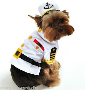 Pet-Dog-Cat-Navy-Sailor-Halloween-Xmas-Fancy-Dress-Costume-Outfit-Clothes-XS-XL