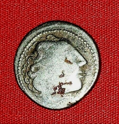 {Ancient CELTS of PANNONIA<Scyphate Silver Drachm<Zeus Seated<1st Cent.BC<Rare!}