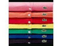 Wholesale Men's Lacoste Polo Shirts BNWT x5