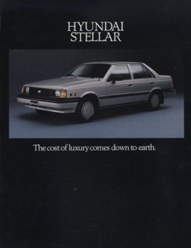 1987 Hyundai Stellar Sedan Sales Brochure Catalog