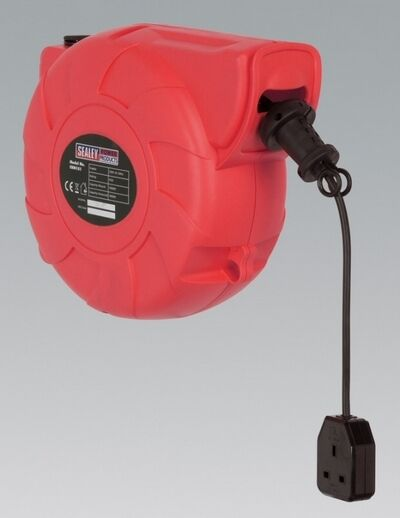 Sealey CRM151 Cable Reel System Retractable 15M 1 X 230V Socket Home Garage