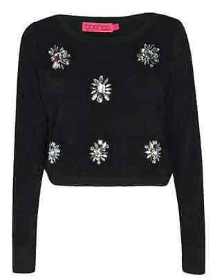Beaded crop knit jumper
