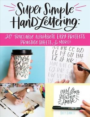 Super Simple Hand Lettering : 20 Traceable Alphabets, Easy Projects, - Traceable Letters
