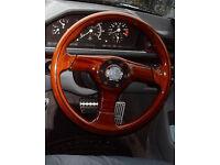 NARDI Mercedes W124 W201 Wooden Steering Wheel With Boss KIT CAR 4X4