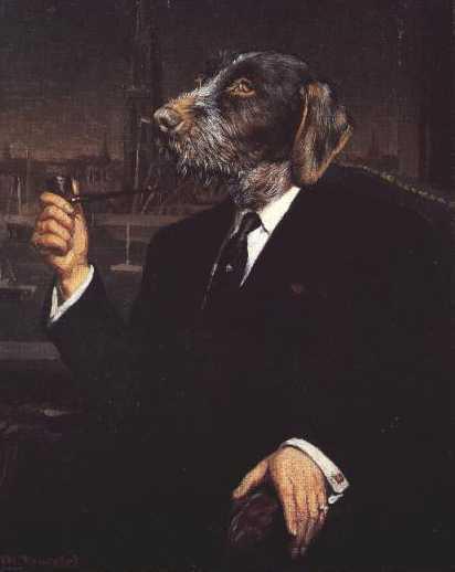 * German Wirehaired Pointer - Vintage Dog Art Print - Poncelet