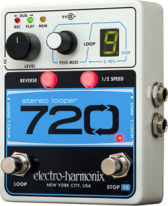 Electro Harmonix 720 STEREO LOOPER with 10 Loops & 12 Minutes Re