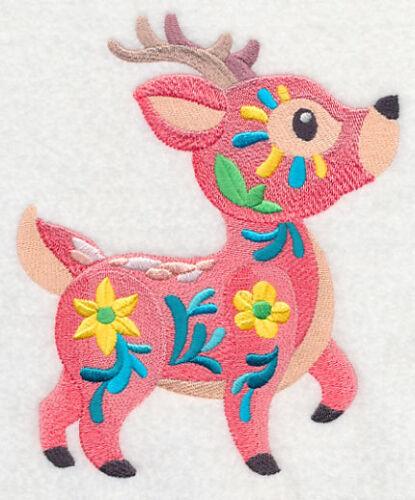 Embroidered Sweatshirt - Flower Power Baby Deer M7021