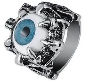 New- Dragon Evil Eye Claw Skull Biker Titanium Ring. Size 11 Sarnia Sarnia Area image 1