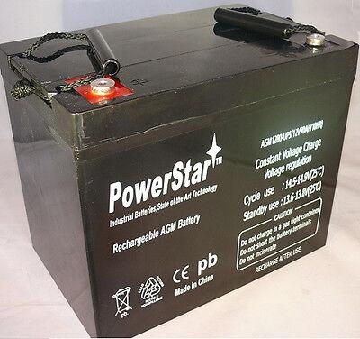 PowerStar 12V 80AH SLA AGM Battery replaces Interstate SLA11