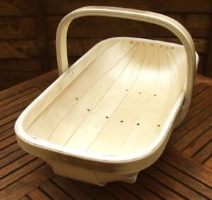 TRUGS: SUSSEX TRUG or WOODEN GARDEN BASKET. Lge SIZE No.7 PERFECT CHERISHED GIFT