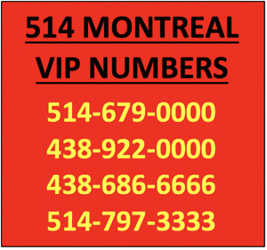 montreal 438 514 vanity platinium easy phone number for sale