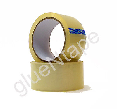 1.9 mil Clear Carton Sealing Hot Melt Packing Tape 2 inch x 55 yards (36 Rolls)