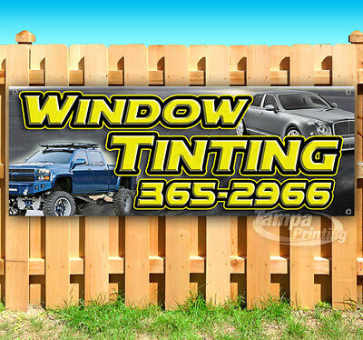 Window Tinting Customize Phone Advertising Vinyl Banner Flag Sign Many Sizes Usa
