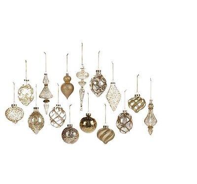 Winter Lane 15-piece Glass Ornament Set