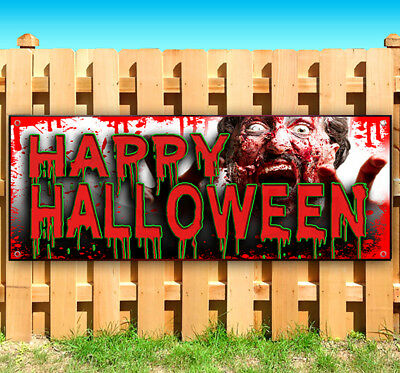 Halloween Vinyl Banners (HAPPY HALLOWEEN Advertising Vinyl Banner Flag Sign USA MANY SIZES 18
