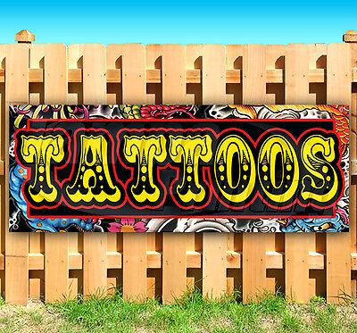 Tattoos Advertising Vinyl Banner Flag Sign Many Sizes Usa