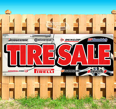 Tire Sale Advertising Vinyl Banner Flag Sign Usa 15 18 20 30 48 52