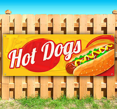 Hot Dogs Advertising Vinyl Banner Flag Sign Many Sizes Available Usa