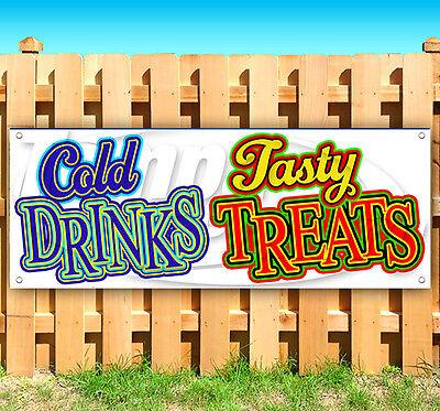 COLD DRINKS TASTY TREATS Advertising Vinyl Banner Flag Sign FAIR CARNIVAL - Carnival Treats