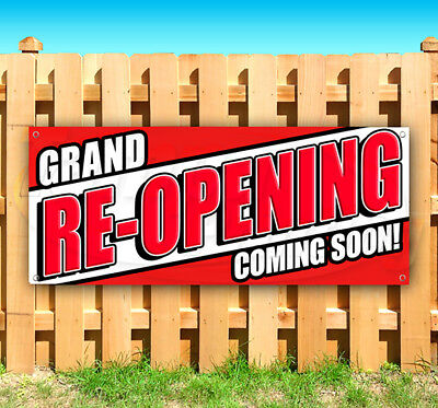 Grand Re-opening Coming Soon Advertising Vinyl Banner Flag Sign Many Sizes Usa